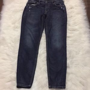 Silver Jeans Avery ankle skinny size 27